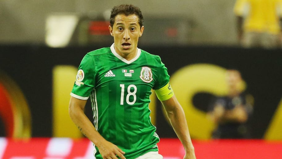 HOUSTON, TX - JUNE 13:  Andres Guardado #18 of Mexico in action during the 2016 Copa America Centenario Group match between Mexico and Venezuela at NRG Stadium on June 13, 2016 in Houston, Texas.  (Photo by Scott Halleran/Getty Images)