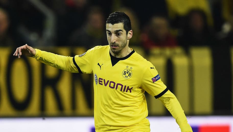 DORTMUND, GERMANY - APRIL 07:  Henrikh Mkhitaryan of Dortmund in action during the UEFA Europa League quarter final first leg match between Borussia Dortmund and Liverpool at Signal Iduna park on April 7, 2016 in Dortmund, Germany.  (Photo by Stuart Franklin/Bongarts/Getty Images)