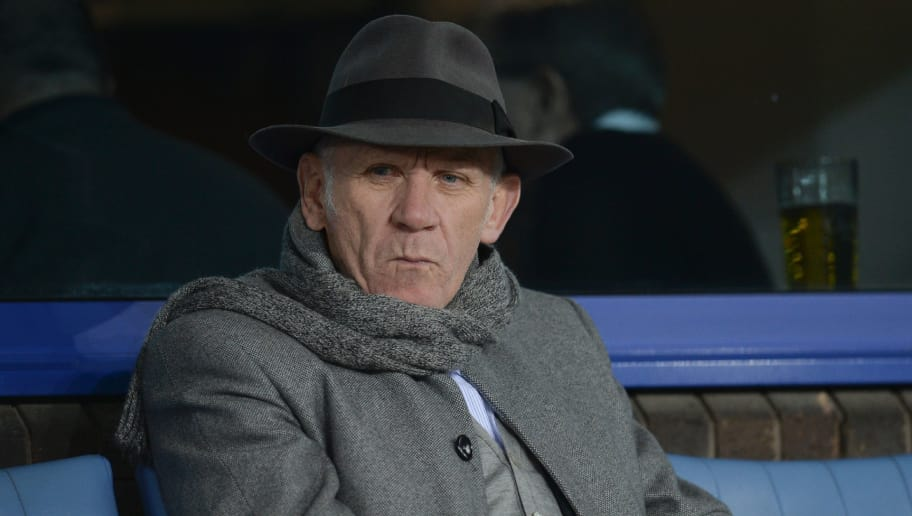 English football manager and former international player Peter Reid attends the English Premier League football match between Everton and Newcastle United at Goodison Park in Liverpool, north west England on February 3, 2016. / AFP / OLI SCARFF / RESTRICTED TO EDITORIAL USE. No use with unauthorized audio, video, data, fixture lists, club/league logos or 'live' services. Online in-match use limited to 75 images, no video emulation. No use in betting, games or single club/league/player publications.  /         (Photo credit should read OLI SCARFF/AFP/Getty Images)