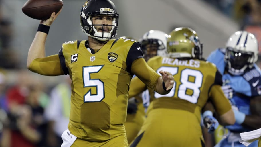 78b647a9b The Jaguars look like they re wearing Star Trek uniforms rather than NFL  uniforms. The full mustard jerseys were ...