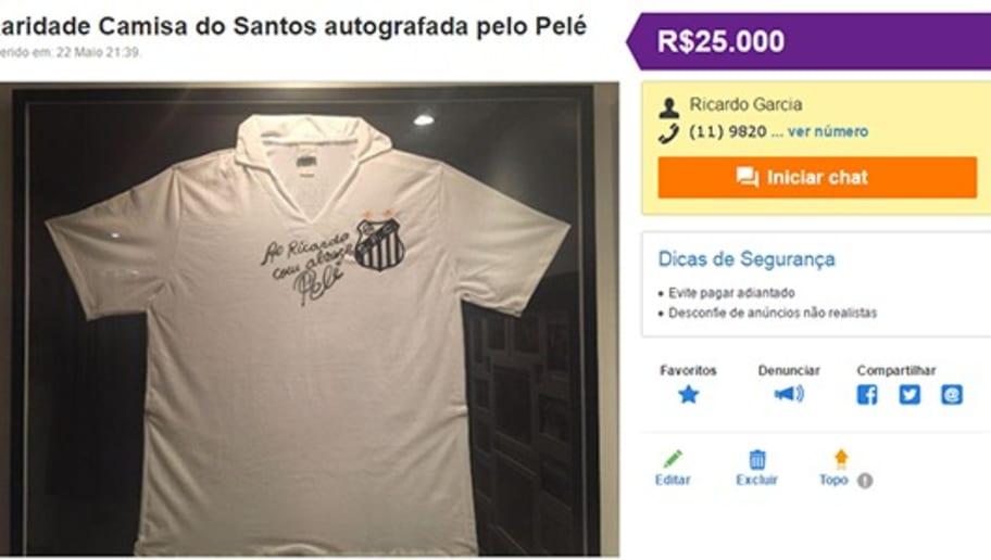 2fd37225e9 10 camisas históricas vendidas (a peso de ouro) na internet; confira ...