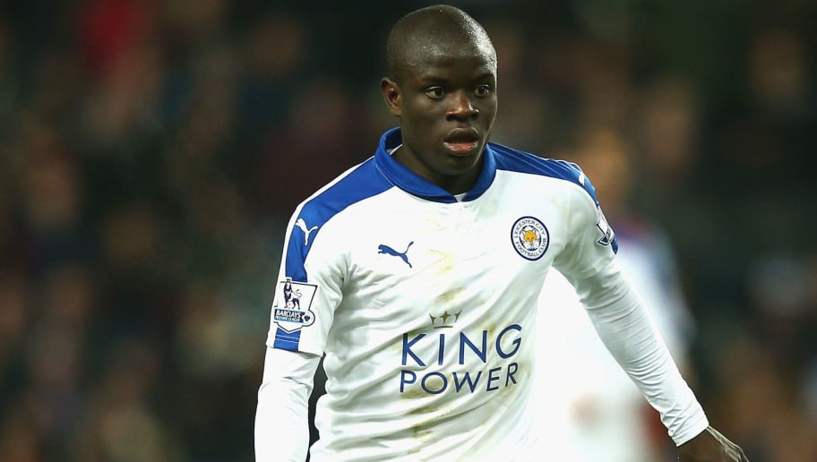 BIRMINGHAM, ENGLAND - JANUARY 16:  Ngolo Kante of Leicester City in action during the Barclays Premier League match between Aston Villa and Leicester City at Villa Park on January 16, 2015 in Birmingham, England.  (Photo by Mark Thompson/Getty Images)