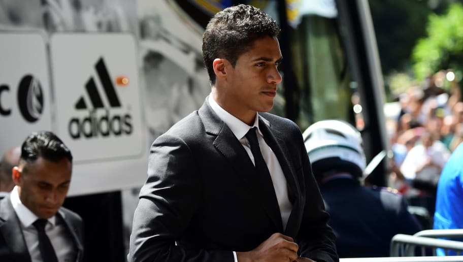 Real Madrid's French defender Raphael Varane arrives at Raddison Hotel in Milan on he eve of the Uefa  Champions League final on May 27, 2016.  / AFP / GIUSEPPE CACACE        (Photo credit should read GIUSEPPE CACACE/AFP/Getty Images)