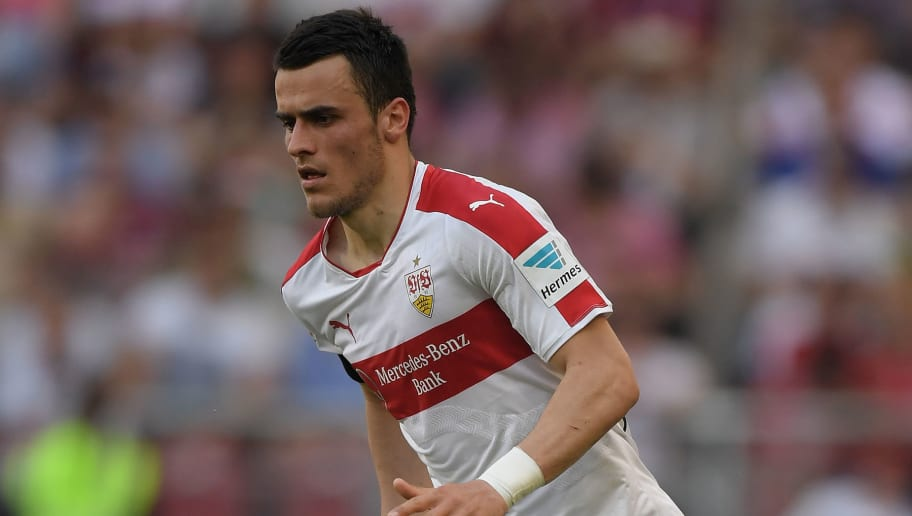 STUTTGART, GERMANY - MAY 07:  Filip Kostic of Stuttgart controls the ball during the Bundesliga match between VfB Stuttgart and 1. FSV Mainz 05 at Mercedes-Benz Arena on May 7, 2016 in Stuttgart, Germany.  (Photo by Matthias Hangst/Bongarts/Getty Images)