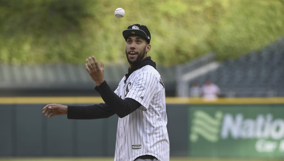 91bbd97e07fa VIDEO  Denzel Valentine Tosses Slick First Pitch at White Sox Game ...