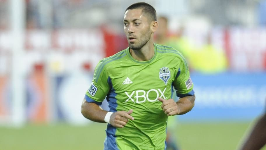 TORONTO, CANADA - AUGUST 10:  Clint Dempsey #2 of the Seattle Sounders FC runs during MLS game action against the Toronto FC August 10, 2013 at BMO Field in Toronto, Ontario, Canada. (Photo by Brad White/Getty Images)