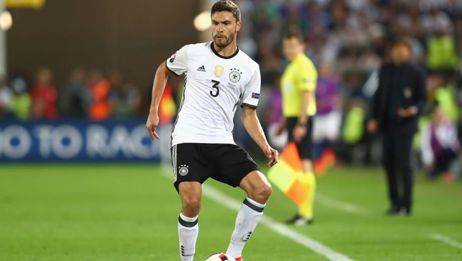 BORDEAUX, FRANCE - JULY 02:  Jonas Hector of Germany runs with the ball during the UEFA EURO 2016 quarter final match between Germany and Italy at Stade Matmut Atlantique on July 2, 2016 in Bordeaux, France.  (Photo by Alexander Hassenstein/Getty Images)