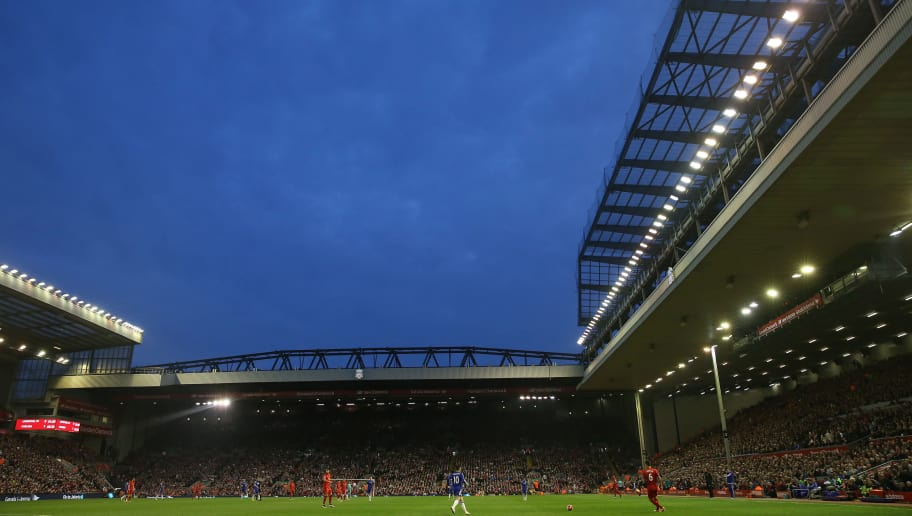 LIVERPOOL, ENGLAND - MAY 11:  A general view during the Barclays Premier League match between Liverpool and Chelsea at Anfield on May 11, 2016 in Liverpool, England.  (Photo by Chris Brunskill/Getty Images)
