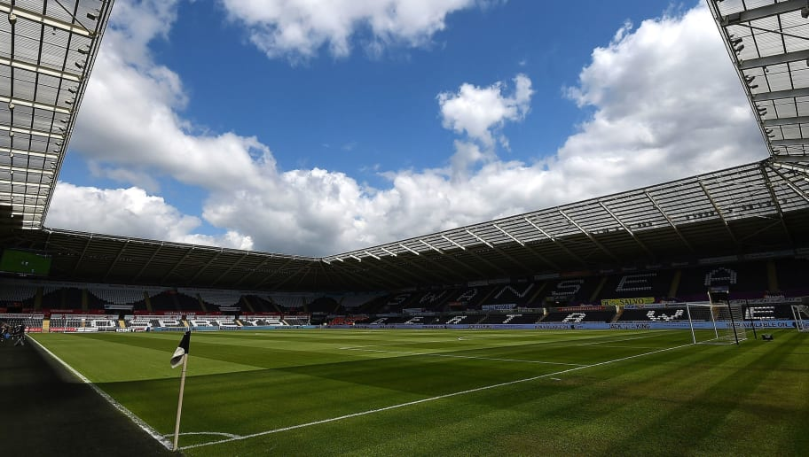 SWANSEA, WALES - MAY 15: A general view of the stadium prior to the Barclays Premier League match between Swansea City and Manchester City at the Liberty Stadium on May 15, 2016 in Swansea, Wales.