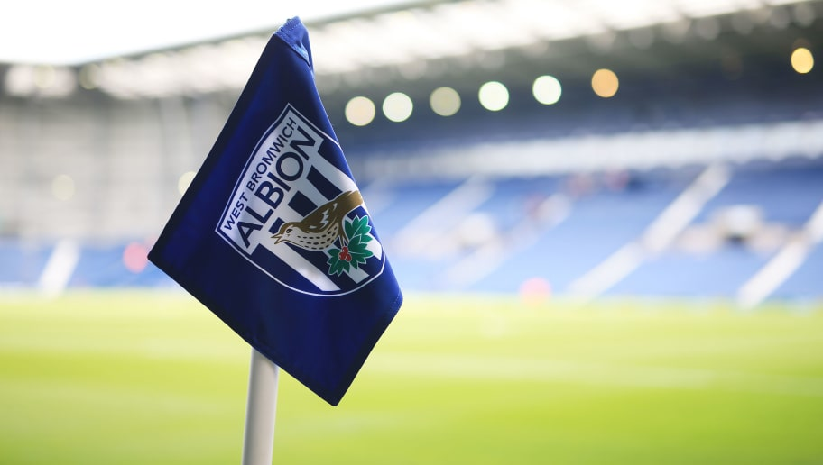 WEST BROMWICH, ENGLAND - MAY 15: A West Bromwich Albion corner flag is seen prior to the Barclays Premier League match between West Bromwich Albion and Liverpool at The Hawthorns on May 15, 2016 in West Bromwich, England.