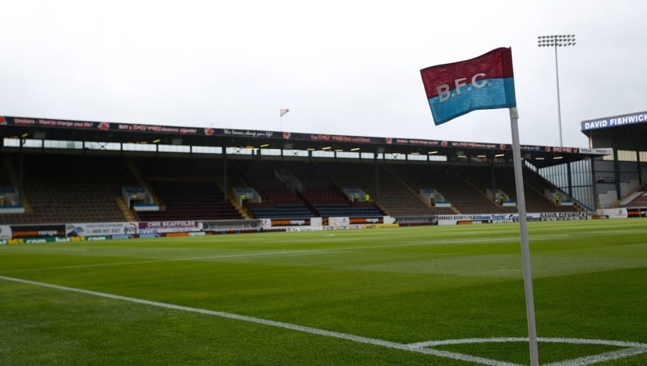 BURNLEY, ENGLAND - AUGUST 17: A general view of a corner flag before the Sky Bet Championship match between Burnley and Yeovil Town at Turf Moor on August 17, 2013 in Burnley, England (Photo by Paul Thomas/Getty Images)
