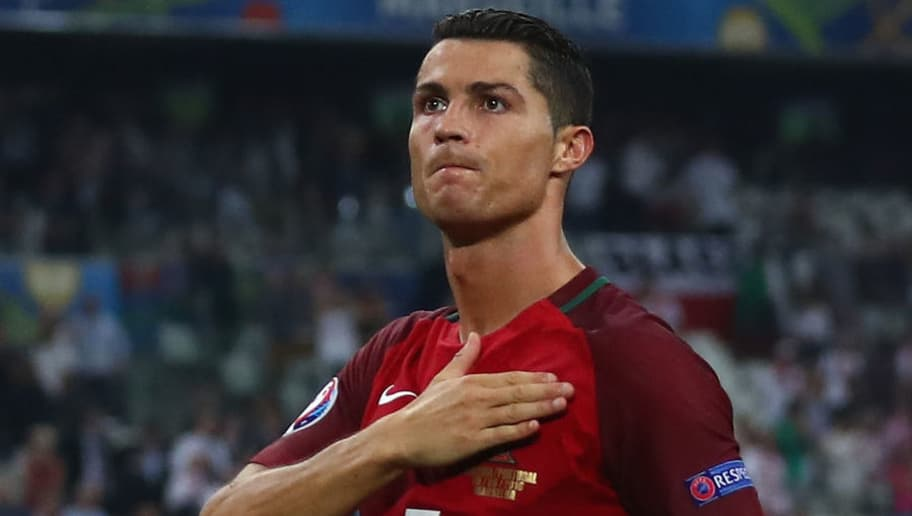 MARSEILLE, FRANCE - JUNE 30:  Cristiano Ronaldo of Portugal celebrates his team's win after the UEFA EURO 2016 quarter final match between Poland and Portugal at Stade Velodrome on June 30, 2016 in Marseille, France.  (Photo by Lars Baron/Getty Images)