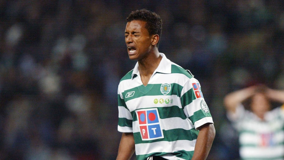 Lisbon, PORTUGAL: Sporting's Portuguese midfielder Nani reacts during his Portuguese Liga football match against Boavista FC at Alvalade XXI Stadium, in Lisbon 11 March 2006. AFP PHOTO FRANCISCO LEONG (Photo credit should read FRANCISCO LEONG/AFP/Getty Images)