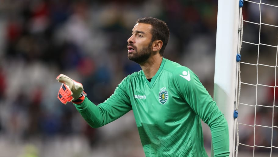 CAPE TOWN, SOUTH AFRICA - JULY 24: Rui Patricio of Sporting Club de Portugal during the 2015 Cape Town Cup match between Ajax Cape Town and Sporting Lisbon at Cape Town Stadium on July 24, 2015 in Cape Town, South Africa. (Photo by Gallo Images/Getty Images)