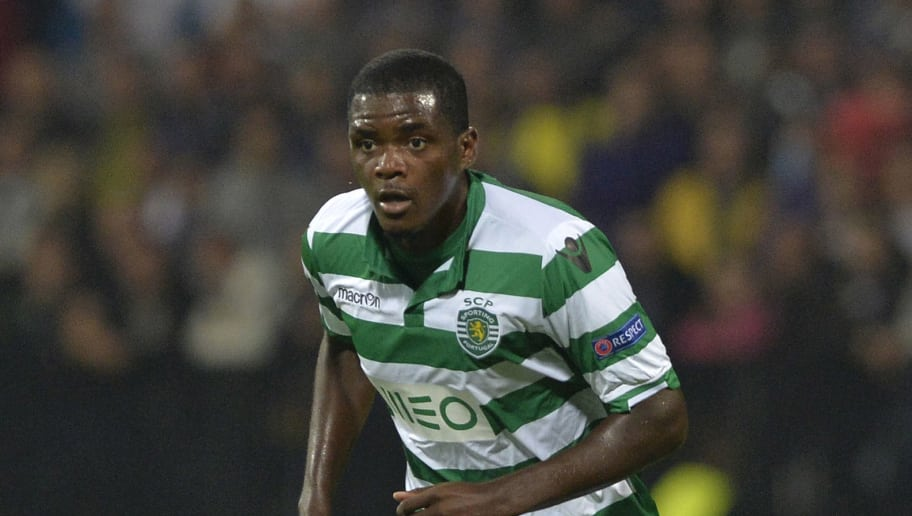 MARIBOR,SLOVENIA - SEPTEMBER 17: William Carvalho of Sporting Clube de Portugal in action during the UEFA Group G Champions League football match between NK Maribor and Sporting Lisbon at the Ljudski vrt Stadium on September 17, 2014 in Maribor, Slovenia. (Photo by Samuel Kubani/EuroFootball/Getty Images)