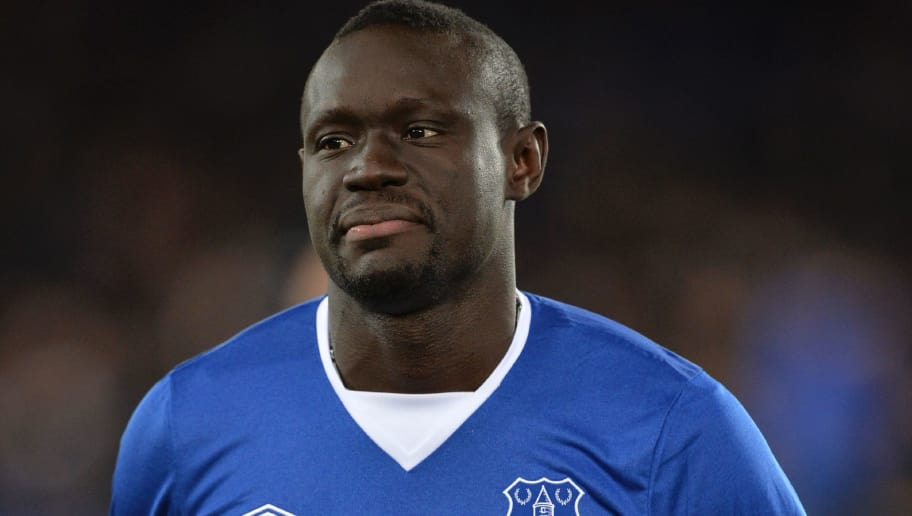 Everton's Senegalese striker Oumar Niasse greets the crowd before the English Premier League football match between Everton and Newcastle United at Goodison Park in Liverpool, north west England on February 3, 2016. / AFP / PAUL ELLIS / RESTRICTED TO EDITORIAL USE. No use with unauthorized audio, video, data, fixture lists, club/league logos or 'live' services. Online in-match use limited to 75 images, no video emulation. No use in betting, games or single club/league/player publications.  /         (Photo credit should read PAUL ELLIS/AFP/Getty Images)
