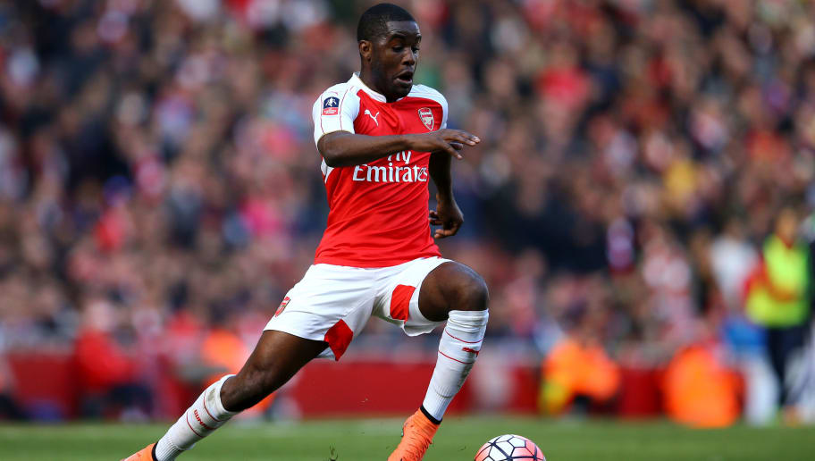 LONDON, ENGLAND - MARCH 13:  Joel Campbell of Arsenal in action during The Emirates FA Cup Sixth Round match between Arsenal and Watford at the Emirates Stadium on March 13, 2016 in London, England.  (Photo by Richard Heathcote/Getty Images)