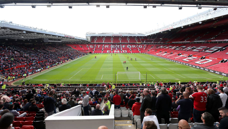 MANCHESTER, UNITED KINGDOM - MAY 15:  A general view after fans were evacuated from the ground prior to the Barclays Premier League match between Manchester United and AFC Bournemouth at Old Trafford on May 15, 2016 in Manchester, England.  (Photo by Alex Morton/Getty Images)