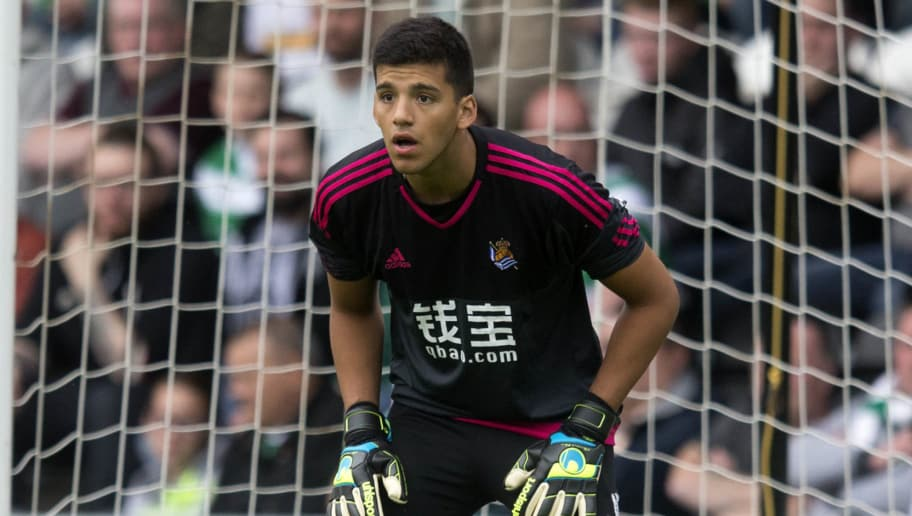 PAISLEY, SCOTLAND - JULY 10: Geronimo Rulli of Real Sociedad  at the Pre Season Friendly between Celtic and Real Sociedad at St Mirren Park on July 10th, 2015 in Paisley, Scotland.  (Photo by Jeff Holmes/Getty Images)