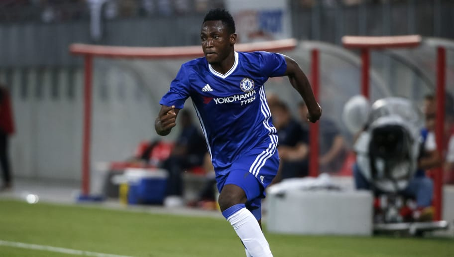 VELDEN, AUSTRIA - JULY 20: Baba Rahman of Chelsea in action during the friendly match between WAC RZ Pellets and Chelsea F.C. at Worthersee Stadion on July 20, 2016 in Velden, Austria. (Photo by Srdjan Stevanovic/Getty Images)