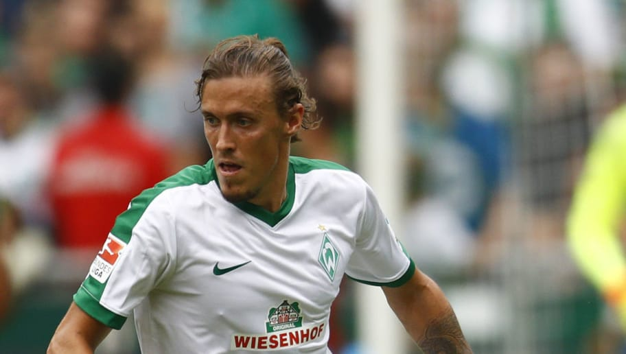 BREMEN, GERMANY - AUGUST 07: Max Kruse of Bremen during the pre-season friendly match between Werder Bremen and FC Chelsea at Weserstadion on August 7, 2016 in Bremen, Germany. (Photo by Joachim Sielski/Bongarts/Getty Images)
