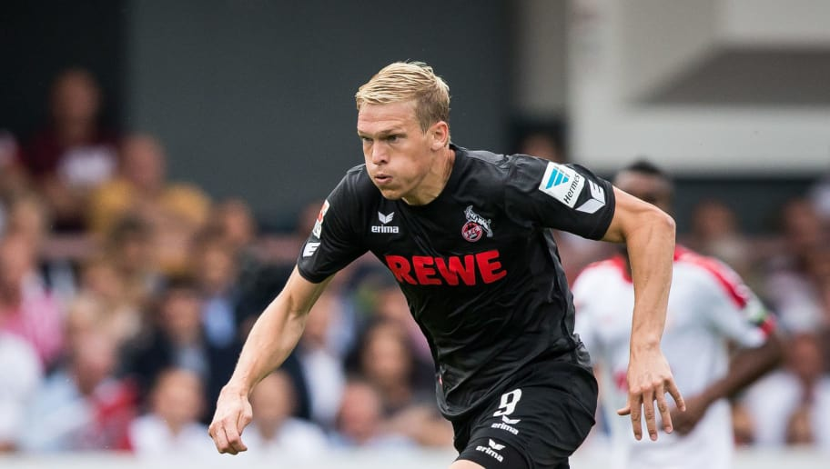 COLOGNE, GERMANY - JULY 26: Artjoms Rudnevs of FC Koeln with ball during the pre-season friendly match between Fortuna Koeln and 1. FC Koeln at Sued Stadion on July 26, 2016 in Cologne, Germany. (Photo by Maja Hitij/Bongarts/Getty Images)
