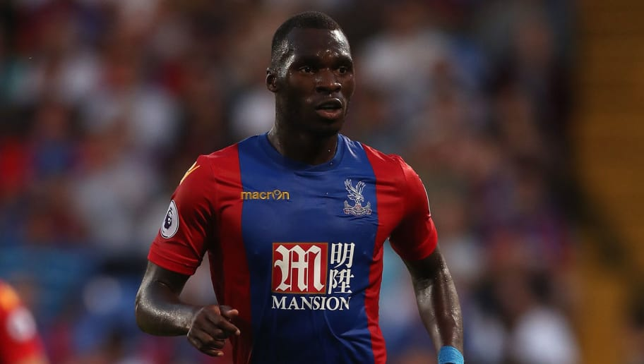 LONDON, ENGLAND - AUGUST 23:  Christian Benteke of Crystal Palace in action during the EFL Cup Second Round match between Crystal Palace and Blackpool at Selhurst Park on August 23, 2016 in London, England.  (Photo by Christopher Lee/Getty Images)