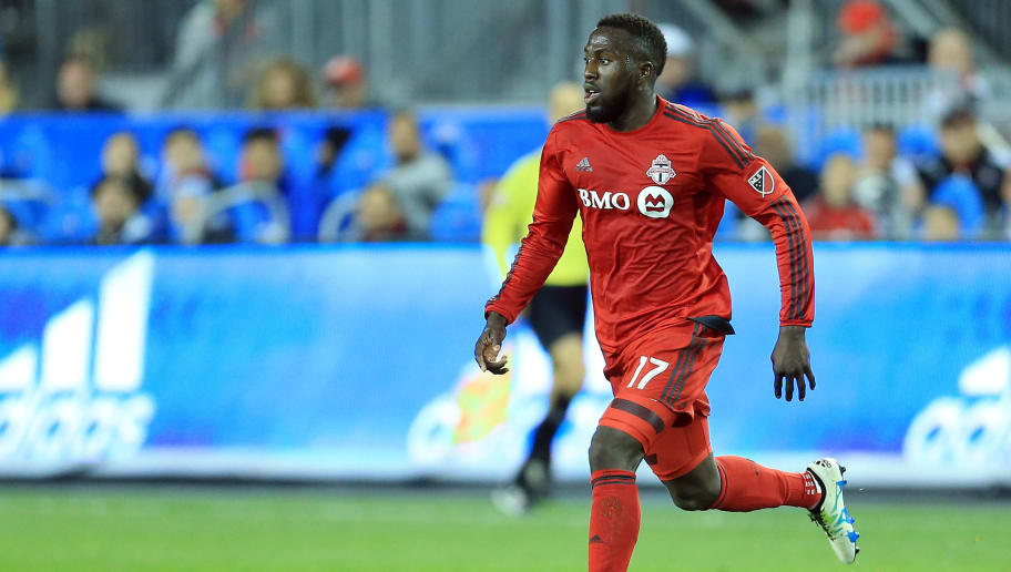 TORONTO, ON - MAY 07:  Jozy Altidore #17 of Toronto FC dribbles the ball during the second half of an MLS soccer game against FC Dallas at BMO Field on May 7, 2016 in Toronto, Ontario, Canada.  (Photo by Vaughn Ridley/Getty Images)