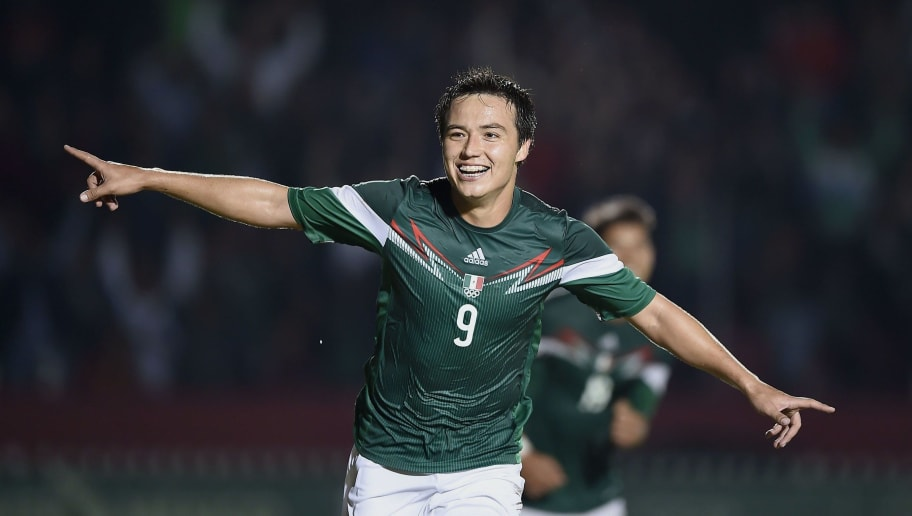 Erick Torres from Mexico celebrates his goal against Venezuela, during the final of men's soccer competition, at the XXII Central American and Caribbean Games in Veracruz, Mexico, on November 28, 2014. The Games bring together nearly 8,000 athletes from 31 countries and run through November 30. AFP PHOTO/RONALDO SCHEMIDT        (Photo credit should read RONALDO SCHEMIDT/AFP/Getty Images)