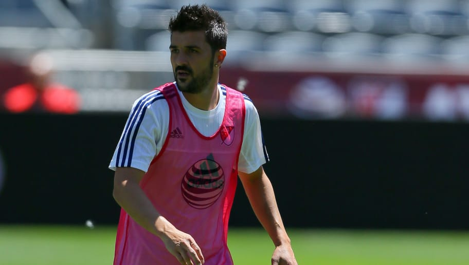 COMMERCE CITY, CO - JULY 28:  MLS All-Star David Villa of the New York City FC works out during training ahead of the MLS All-Star Game against the Tottenham Hotspur at Dick's Sporting Goods Park on July 28, 2015 in Commerce City, Colorado. (Photo by Justin Edmonds/Getty Images)