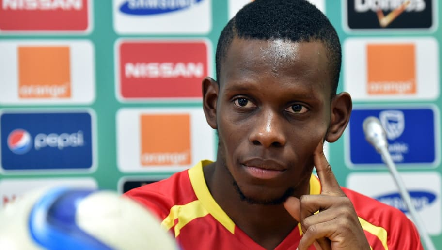 Guinea's midfielder Ibrahima Traore holds a press conference in Malabo on January 23, 2015 on the eve of the 2015 African Cup of Nations football match between Guinea and Cameroon. AFP PHOTO / ISSOUF SANOGO        (Photo credit should read ISSOUF SANOGO/AFP/Getty Images)