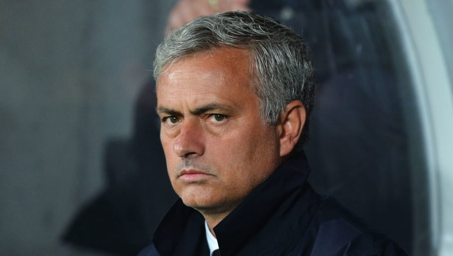 HULL, ENGLAND - AUGUST 27:  Jose Mourinho, Manager of Manchester United looks on during the Premier League match between Hull City and Manchester United at KCOM Stadium on August 27, 2016 in Hull, England.  (Photo by Mark Runnacles/Getty Images)