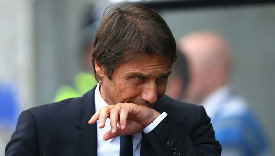 SWANSEA, WALES - SEPTEMBER 11:  Antonio Conte manager of Chelsea looks thoughtful prior to the Premier League match between Swansea City and Chelsea at Liberty Stadium on September 11, 2016 in Swansea, Wales.  (Photo by Alex Livesey/Getty Images)