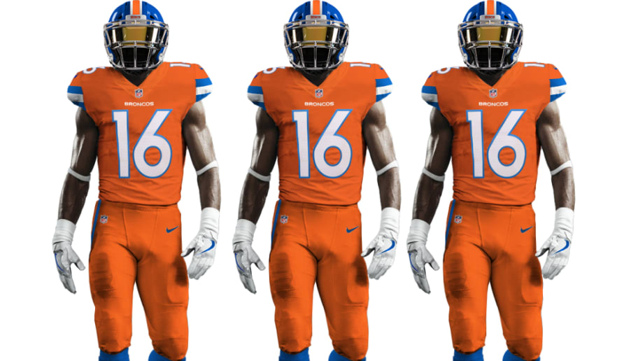 dd8268f5b Get a First Look at the Broncos  Amazing Color Rush Jerseys