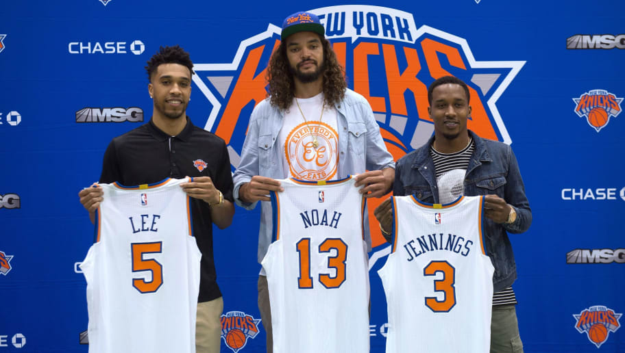 bac521710 (L-R) The New York Knicks  newest players Courtney Lee