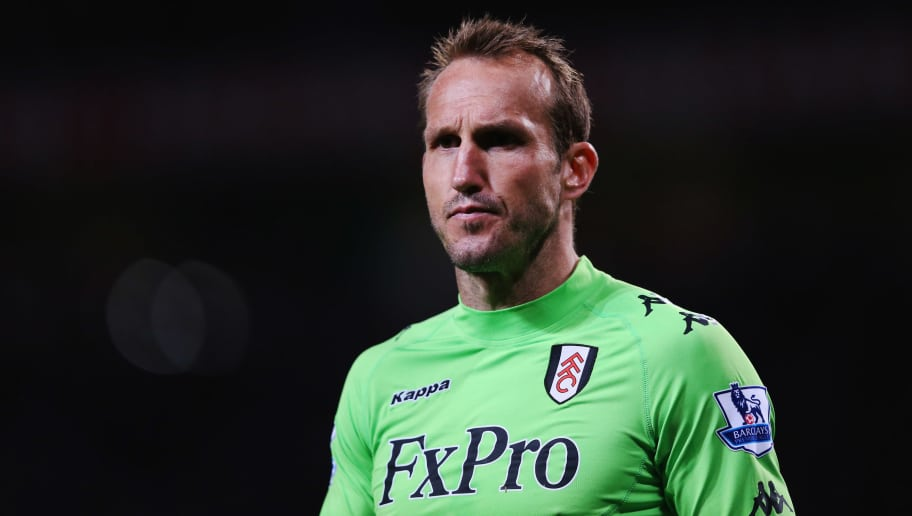 MANCHESTER, ENGLAND - MARCH 26:  Mark Schwarzer of Fulham looks on during the Barclays Premier League match between Manchester United and Fulham at Old Trafford on March 26, 2012 in Manchester, England.  (Photo by Alex Livesey/Getty Images)
