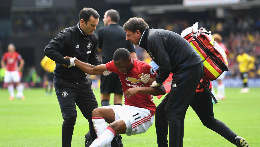 Anthony Martial Still Recovering Following Head Collision Against Watford   90min