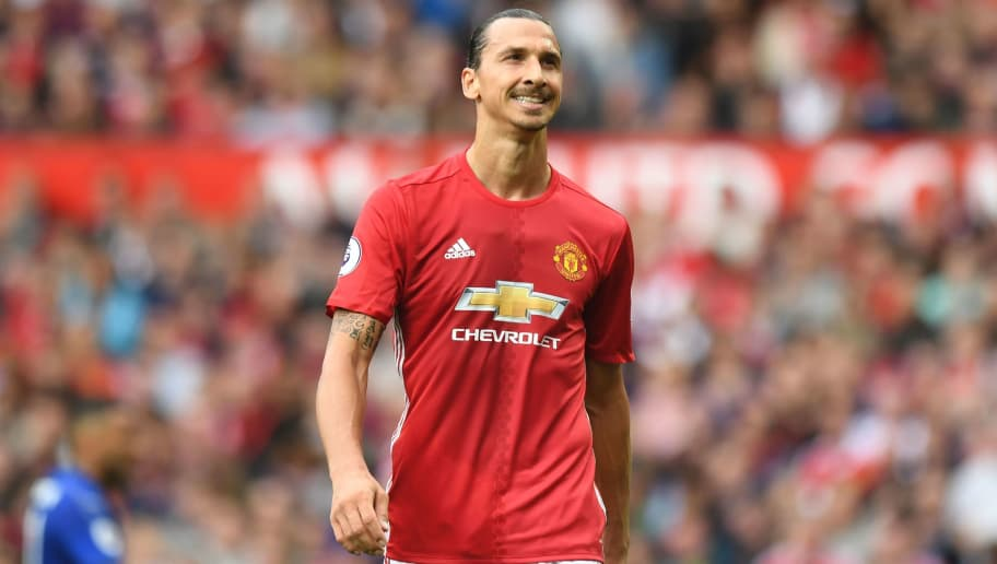 dba37ba82 Manchester United s Swedish striker Zlatan Ibrahimovic reacts during the  English Premier League football match between Manchester