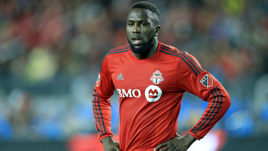 TORONTO, ON - MAY 07:  Jozy Altidore #17 of Toronto FC looks on during the second half of an MLS soccer game against FC Dallas at BMO Field on May 7, 2016 in Toronto, Ontario, Canada.  (Photo by Vaughn Ridley/Getty Images)
