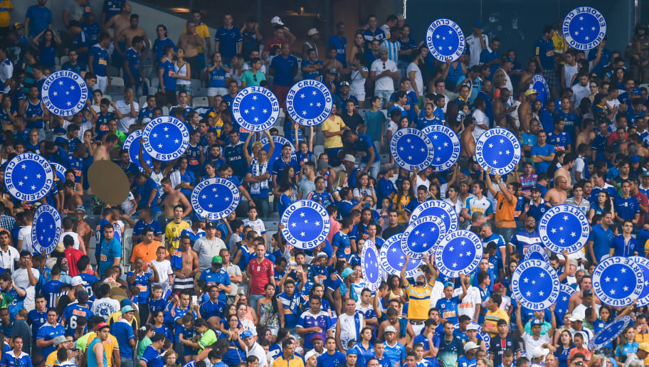 BELO HORIZONTE, BRAZIL - OCTOBER 04: Fans of Cruzeiro a match between Cruzeiro and Gremio as part of Brasileirao Series A 2015 at Mineirao stadium on October 04, 2015 in Belo Horizonte, Brazil. (Photo by Pedro Vilela/Getty Images)