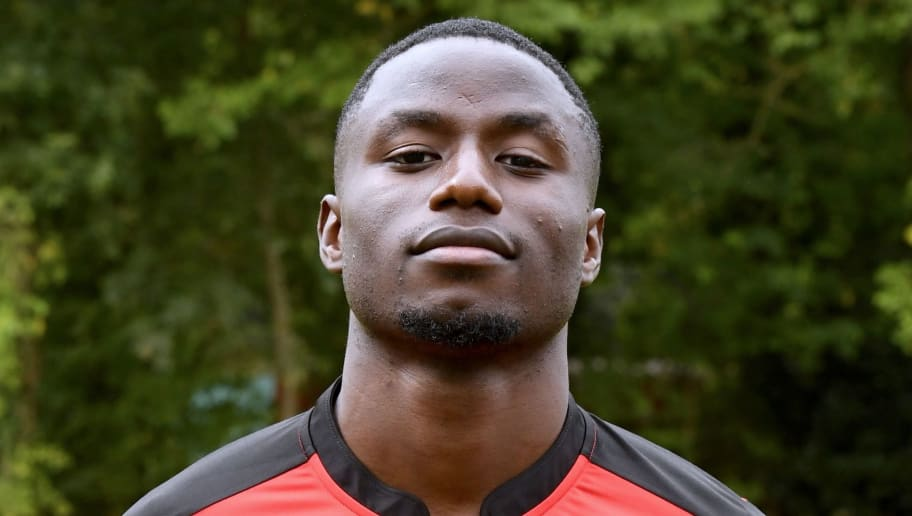 Rennes' French-Cameroonian forward Paul-Georges Ntep poses during the shooting of Stade Rennais' football club's official picture in Rennes on September 12, 2016. / AFP / DAMIEN MEYER        (Photo credit should read DAMIEN MEYER/AFP/Getty Images)