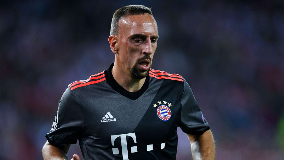 MADRID, SPAIN - SEPTEMBER 28:  Franck Ribery of FC Bayern Muenchen looks on during the UEFA Champions League Group D match between Club Atletico de Madrid and FC Bayern Muenchen at Vicente Calderon Stadium on September 28, 2016 in Madrid, Spain.  (Photo by David Ramos/Getty Images)