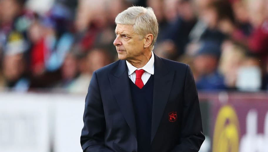 BURNLEY, ENGLAND - OCTOBER 02: Arsene Wenger, Manager of Arsenal looks on during the Premier League match between Burnley and Arsenal at Turf Moor on October 2, 2016 in Burnley, England.  (Photo by Matthew Lewis/Getty Images)