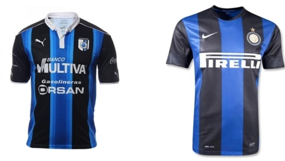 b0dc3e99cdab7 ... dos en negro y mangas en color negro hacen que estás camisetas sean muy  similares. Estos son los inconfundibles tonos del importante equipo del  Inter de ...