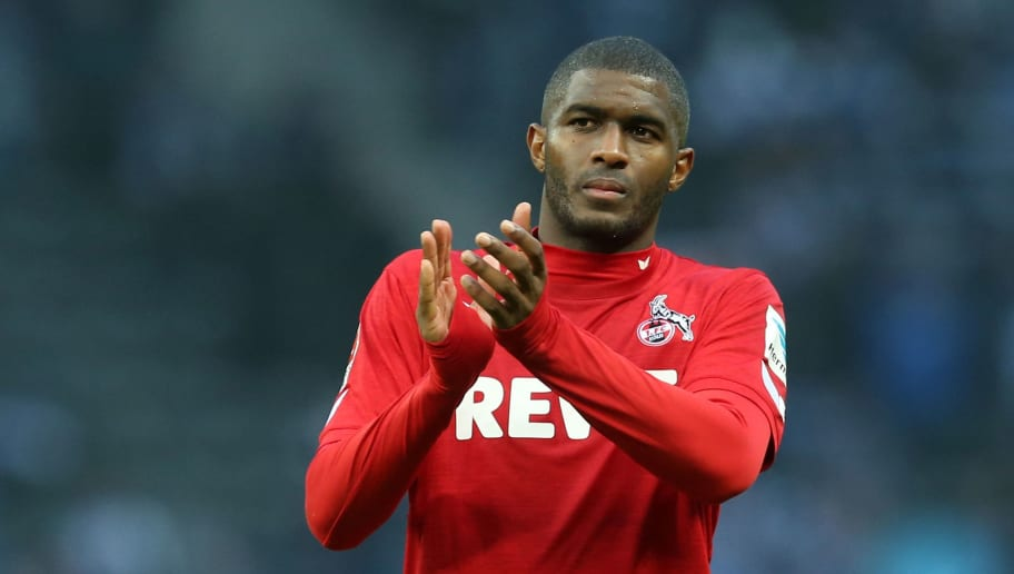 BERLIN, GERMANY - OCTOBER 22:  Anthony Modeste of Koeln looks on after the Bundesliga match between Hertha BSC and 1. FC Koeln at Olympiastadion on October 22, 2016 in Berlin, Germany. (Photo by Matthias Kern/Bongarts/Getty Images)