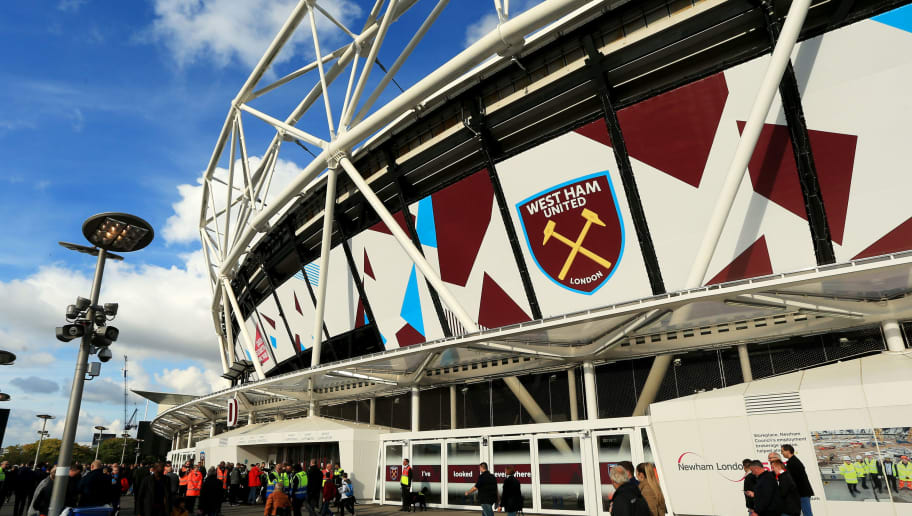 LONDON, ENGLAND - OCTOBER 22:  West Ham United supporters are seen outside the stadium prior to the Premier League match between West Ham United and Sunderland at Olympic Stadium on October 22, 2016 in London, England.  (Photo by Stephen Pond/Getty Images)