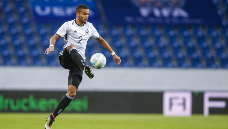 SANKT POLTEN, AUSTRIA - OCTOBER 11: Jeremy Toljan of Germany controls the ball during the 2017 UEFA European U21 Championships Qualifier between U21 Austria and U21 Germany at NV Arena on October 11, 2016 in Sankt Polten, Austria. (Photo by Christian Hofer/Bongarts/Getty Images)