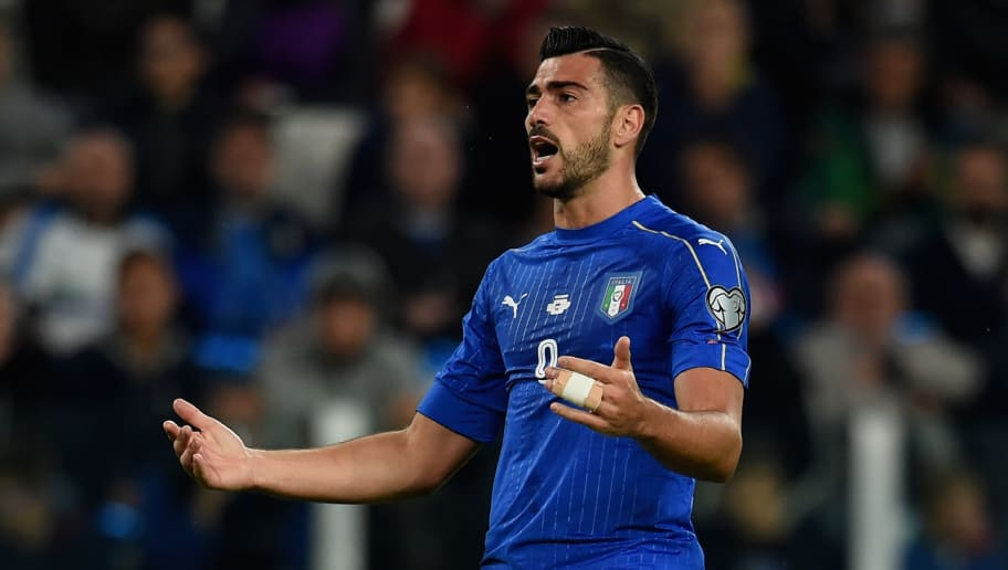 TURIN, ITALY - OCTOBER 06:  Graziano Pelle of Italy #9 reacts during the FIFA 2018 World Cup Qualifier between Italy and Spain at Juventus Stadium on October 6, 2016 in Turin, Italy.  (Photo by Claudio Villa/Getty Images)