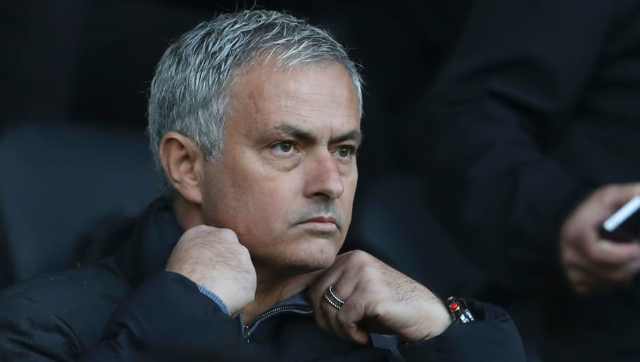Manchester United's Portuguese manager Jose Mourinho sits in the stands ahead of the English Premier League football match between Swansea City and Manchester United at The Liberty Stadium in Swansea, south Wales on November 6, 2016. Mourinho must watch from the stand at the Liberty Stadium, having been given a one-match ban for confronting referee Mark Clattenburg at half-time during last weekend's goalless draw with Burnley. / AFP / GEOFF CADDICK / RESTRICTED TO EDITORIAL USE. No use with unauthorized audio, video, data, fixture lists, club/league logos or 'live' services. Online in-match use limited to 75 images, no video emulation. No use in betting, games or single club/league/player publications.  /         (Photo credit should read GEOFF CADDICK/AFP/Getty Images)