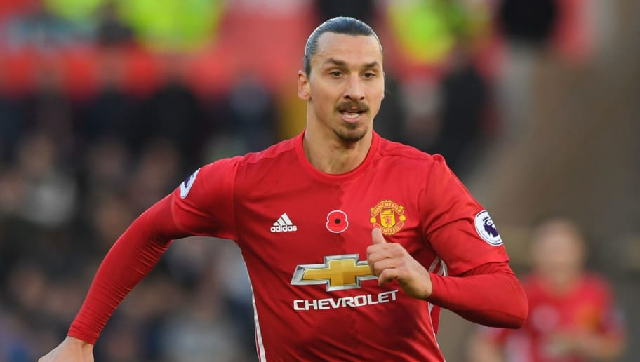 SWANSEA, WALES - NOVEMBER 06:  : Zlatan Ibrahimovic of Manchester United in action during the Premier League match between Swansea City and Manchester United at Liberty Stadium on November 6, 2016 in Swansea, Wales.  (Photo by Stu Forster/Getty Images)